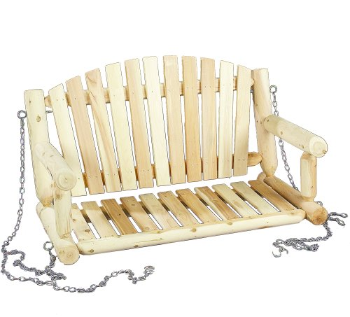 Cedarlooks 070026C Log Porch Swing, 4-Feet