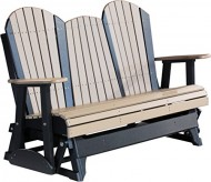 Outdoor Polywood 5 Foot Porch Glider – Adirondack Design *WEATHERWOOD/BLACK* Color