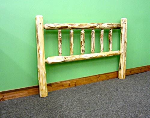 Midwest Log Furniture – Rustic Log Headboard – Full