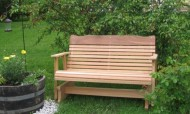 4′ Cedar Porch Glider, Amish Crafted