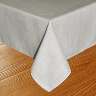 Eforcurtain Country Rustic Tablecloth Natural Polyester Linen Table Cover for Dining Table Oblong, 60 By 102-inch, Greenish/Linen