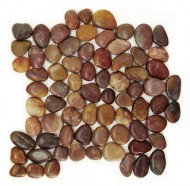 Polished Pebble Tile – Rustic Red 12×12″