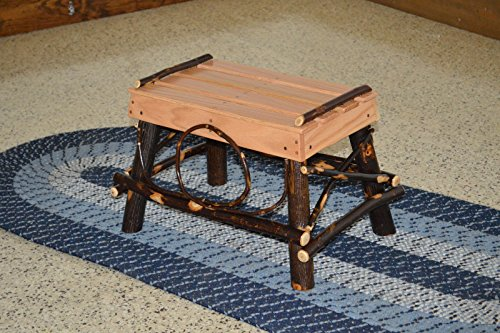 Rustic Hickory & Oak Foot Rest *Natural Finish* Amish Made USA