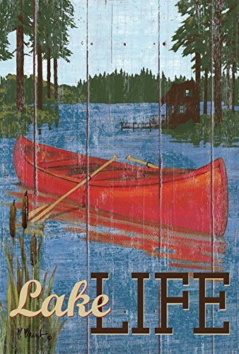Toland Home Garden Rustic Lake Life 28 x 40-Inch Decorative USA-Produced House Flag