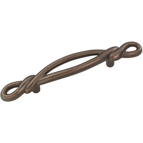 Hickory Hardware P3451-DAC 3 In. French Twist Dark Antique Copper Cabinet Pull