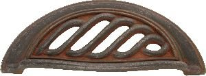 Hickory Hardware PA1322-RI Charleston Blacksmith Cup Cabinet Pull, 3-Inch, Rustic Iron