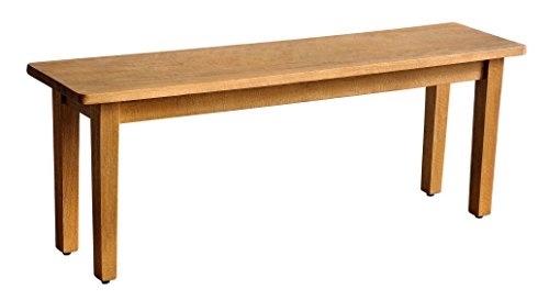 Casual Elements Suffolk Bench with Straight Legs, Rustic Mango Natural