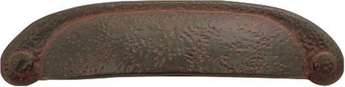 Hickory Hardware P3004-RI 3-Inch Refined Rustic Pull, Rustic Iron