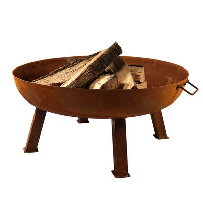 Sunnydaze Large Rustic Cast Iron Fire Pit Bowl, 34 Inch Diameter