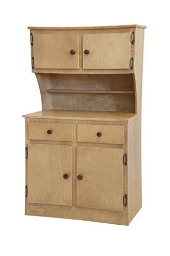 Amish-Made, Handcrafted Children's Wooden Hutch (Harvest Finish)
