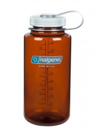 Nalgene Wide Mouth Water Bottle, 1-Quart, Rustic Orange