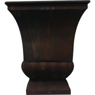 Gardman 8225 Large Rustic Metal Urn Planter, 15.75″ Long x 15.75″ Wide x 18″ High