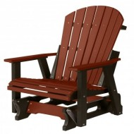 Berlin Gardens Comfo-Back Adirondack Glider – Burgundy on Black