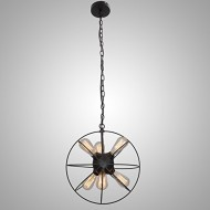 UNITARY BRAND Vintage Metal Shade Round Hanging Ceiling Chandelier Max. 360W With 6 Lights Painted Finish