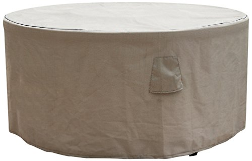 Budge English Garden Round Patio Table Cover P5A07PM1, Tan Tweed (72 Diameter x 28 Drop)