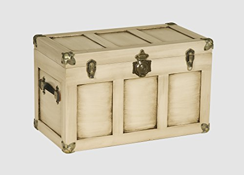 Amish-Made, Handcrafted Wooden 28″ Trunk – Medium (White Glaze)