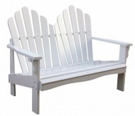 Shine Company Westport Loveseat, White