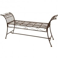 Oriental Furniture Rustic Decorative Garden Bench – Rust Patina