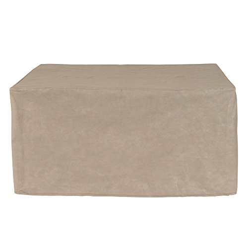 Budge English Garden Square Patio Table Cover P5A25PM1, Tan Tweed (28 H x 58 L x 58 W)