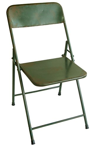 NACH th-F4920AG Rustic Bistro Chair, Green, Set of 2