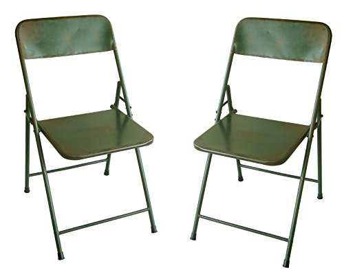 NACH Rustic Bistro Chair (Set of 2), Green