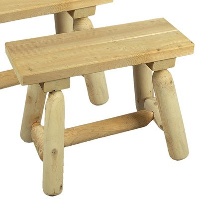 Cedarlooks 030019A Log Straight Bench, 2-Feet- 2 benches per box