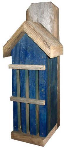 Rustic Butterfly House from Recycled Fence Wood: BLUE