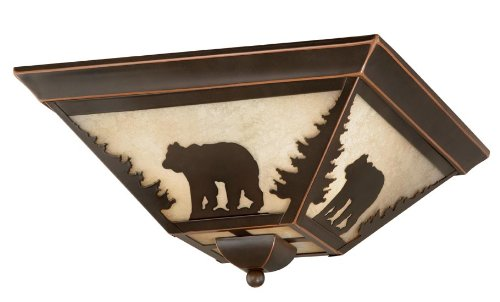 Vaxcel CC55714BBZ Bozeman Flush Mount, 14″, Burnished Bronze Finish