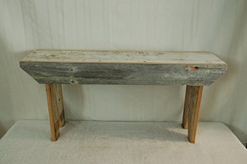 Rustic 3 Foot Barnwood Bench. This Country Bench Seats Varies in Width From 8 – 10″ and Stands 16″ Off Ground. Made From Antique Barnwood in Excess of 100 Years Old. This Rustic Primitive Bench Is a Great Addition to Your Home and Garden Landscape Design. Spectacular Bench and a Piece of History At a Spectacular Price.