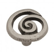 Liberty P17012V-PEW-C7 35mm Single Swirl Cabinet Hardware Knob