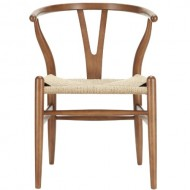 LexMod C24 Wishbone Chair in  Walnut