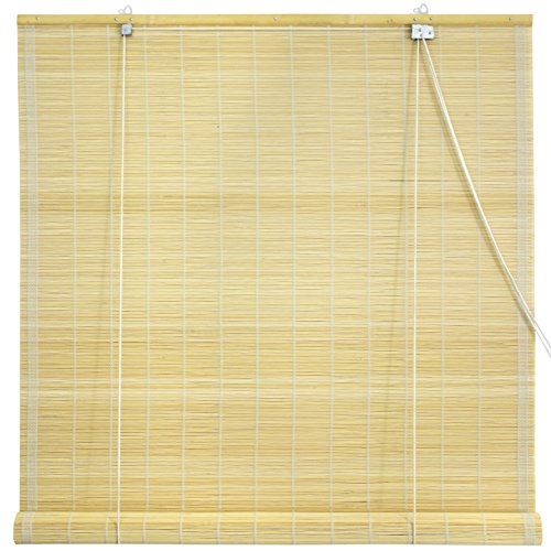 Oriental Furniture Matchstick Roll Up Blinds – Natural – (36 in. x 72 in.)