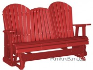 Outdoor Polywood 5 Foot Porch Glider – Adirondack Design *RED* Color