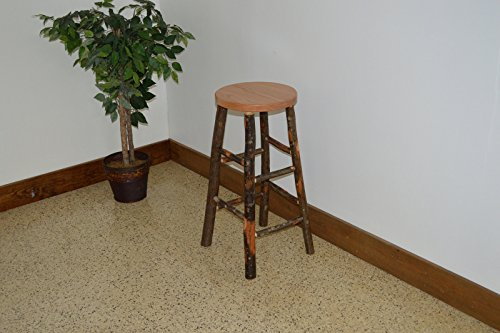 Rustic Hickory & Oak Barstool *Natural Finish* Amish Made USA