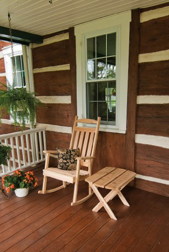 Outdoor Classic Front Porch Rocker – *Unfinished Pine* Amish Made USA
