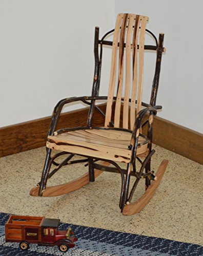 Rustic Hickory Child's Rocker *ALL HICKORY* Amish Made USA
