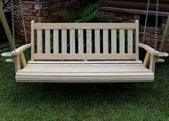 MISSION Amish Heavy Duty 800 Lb 5ft. Porch Swing With Cupholders – Made in USA