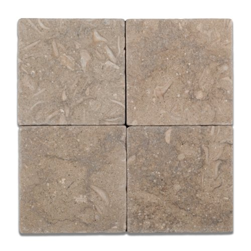 Seagrass / Rustic Green Limestone 6 X 6 Tumbled Field Tile – Box of 5 sq. ft.