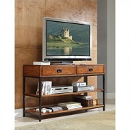 Home Style 5050-06 Modern Craftsman Media Console, Distressed Oak Finish