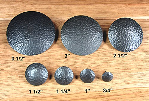 1″ Dia. Round Distressed Clavos, Oil Rubbed Bronze Finish (Lot of 24), #CLR-100-ECON-24