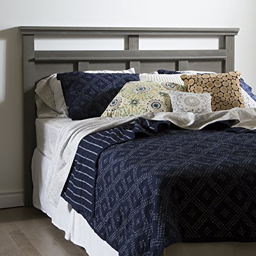 "South Shore 54/60"" Versa Headboard, Full/Queen, Gray Maple"
