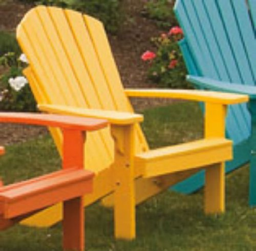POLY Folding & Reclining Adirondack Chair – Amish Made USA – Lemon Yellow