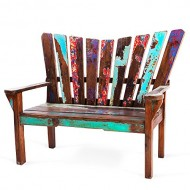 EcoChic Lifestyles Dock Holiday Reclaimed Wood Bench