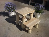 White Cedar Log Step Stool