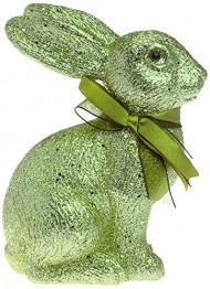 Boston International Glitter Sitting Bunny, Green