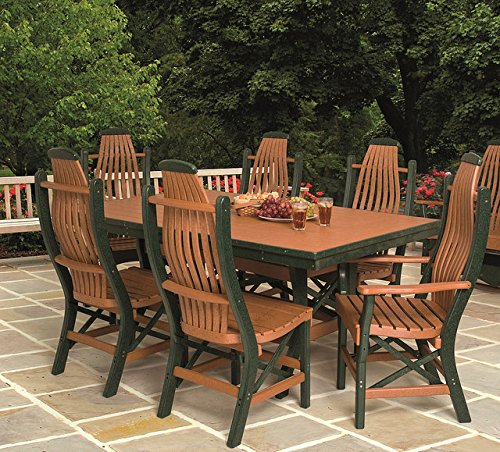 Poly Lumber Patio Furniture Set Including 1 Rectangular Table (60u2033) And 4  Chairs Part 45