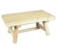 Cedarlooks 020090A Log Rectangular Coffee Table
