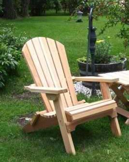 Folding Cedar Adirondack Chair, Amish Crafted
