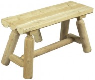 Cedarlooks 030020A Log Straight Bench, 3-Feet, 2-Benches per package – 2 benches per box