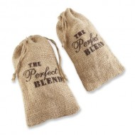 Kate Aspen Set of 12 The Perfect Blend Coffee Favor Kit, Rustic Burlap